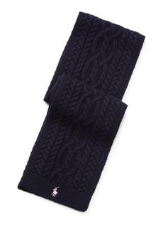Ralph Lauren Aran-Knit Scarf