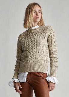 Ralph Lauren Aran-Knit Wool-Blend Sweater