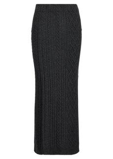 Aran-Knit Wool Maxiskirt