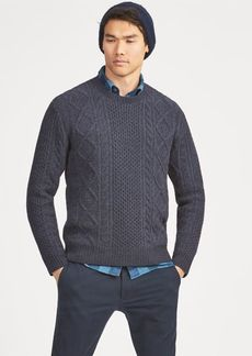Ralph Lauren Aran-Knit Wool Sweater