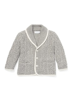 Ralph Lauren Aran Shawl-Collar Cardigan Sweater