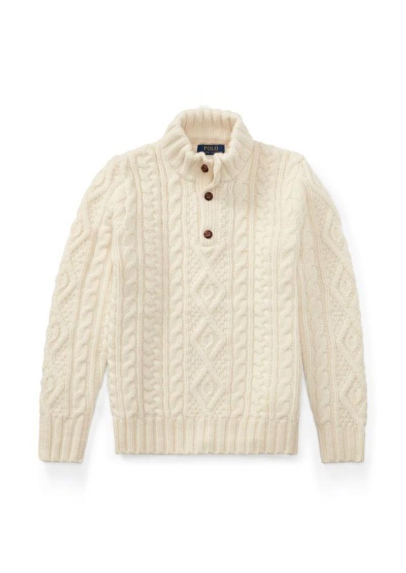 Ralph Lauren Aran Wool-Cashmere Sweater
