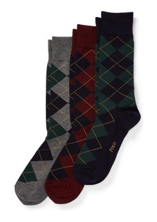 Ralph Lauren Argyle Trouser Sock 3-Pack