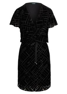 Ralph Lauren Art Deco Burn-Out Velvet Dress