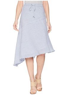 Ralph Lauren Asymmetrical Cotton Midi Skirt