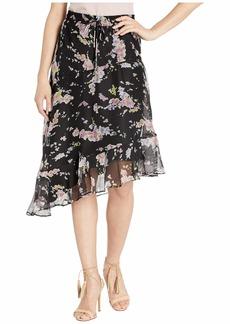 Ralph Lauren Asymmetrical Floral-Print Skirt