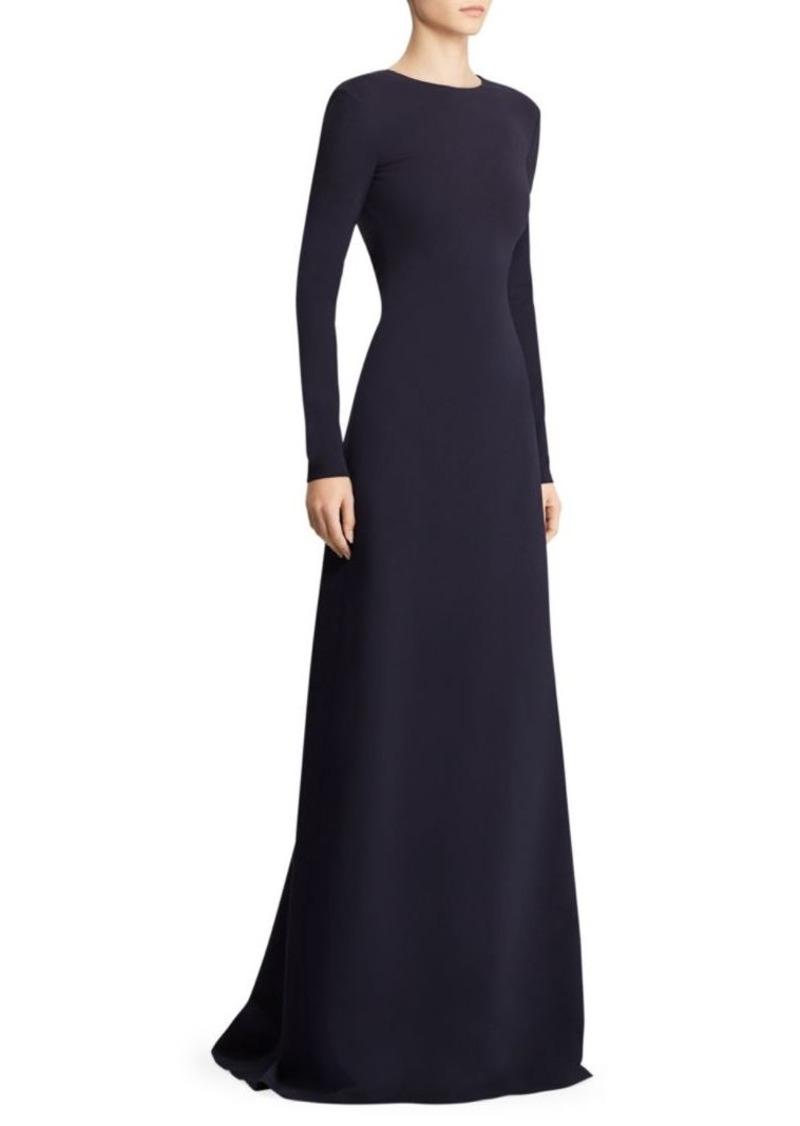 Ralph Lauren Atara Chain Lace-Up Back Evening Dress