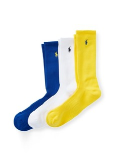 Ralph Lauren Athletic Crew Sock 3-Pack