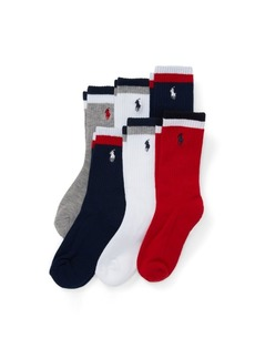 Ralph Lauren Athletic Crew Sock 6-Pack