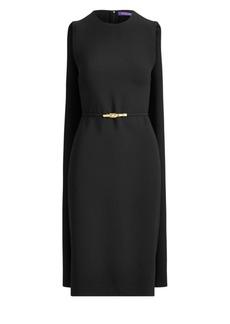 Ralph Lauren Aviana Belted Cape Dress