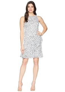 Ralph Lauren B592 Burnout Dot Georgette Sabramay Sleeveless Day Dress