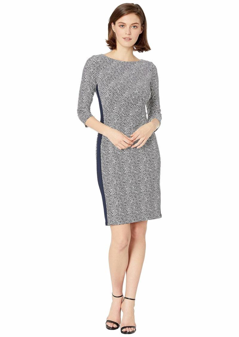 Ralph Lauren B746 Lugano Geo Drewly 3/4 Sleeve Day Dress