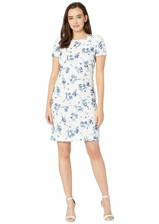 Ralph Lauren B773 La Vara Floral Adika Short Sleeve Day Dress