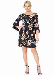 Ralph Lauren B792 Petluma Floral Tycenda 3/4 Sleeve Day Dress