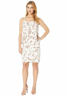 Ralph Lauren B837 Cam Anella Pebble Crepe Sleeveless Day Dress