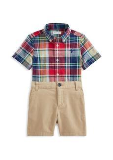 Ralph Lauren Baby Boy's & Little Boy's Two-Piece Shirt & Shorts Set
