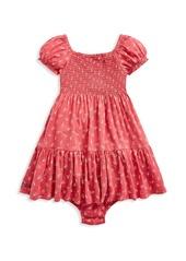 Ralph Lauren Baby Girl's 2-Piece Smocked Dress & Bloomers Set