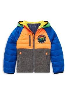 Ralph Lauren Baby, Little & Boy's Colorblock Puffer Down Jacket