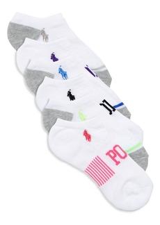 Ralph Lauren Baby's, Little Girl's & Girl's Six-Pack Polo Ankle Socks