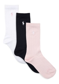 Ralph Lauren Three-Pack Supersoft Ribbed Socks