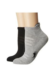 Ralph Lauren Barre Socks w/ Tab 2-Pack