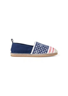 Ralph Lauren Barron Flag Canvas Espadrille