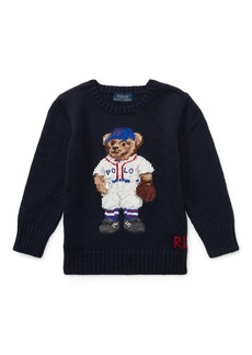 Ralph Lauren Baseball Bear Cotton Sweater