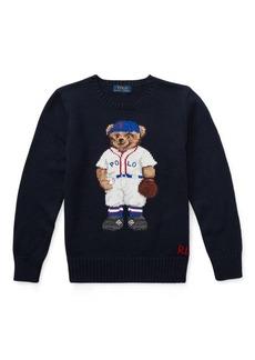 Ralph Lauren Baseball Bear Cotton Sweater