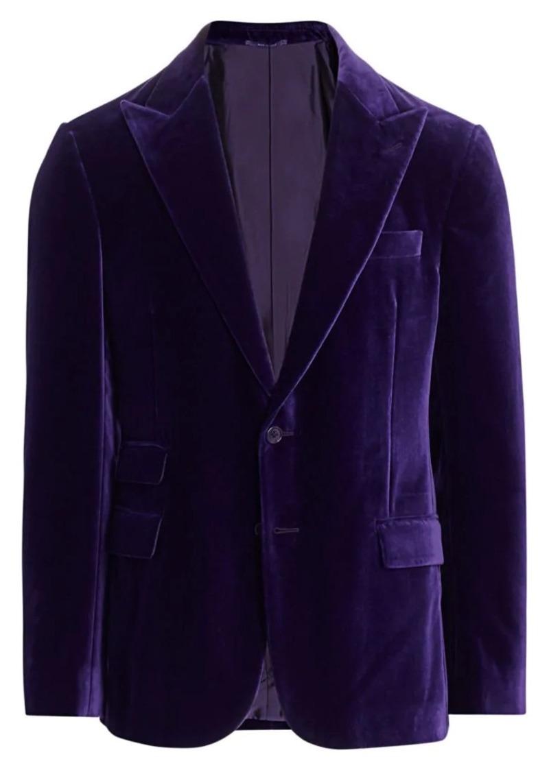 Ralph Lauren Basic Cotton Velvet Jacket