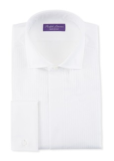 Ralph Lauren Basic Pleated French-Cuff Tuxedo Shirt