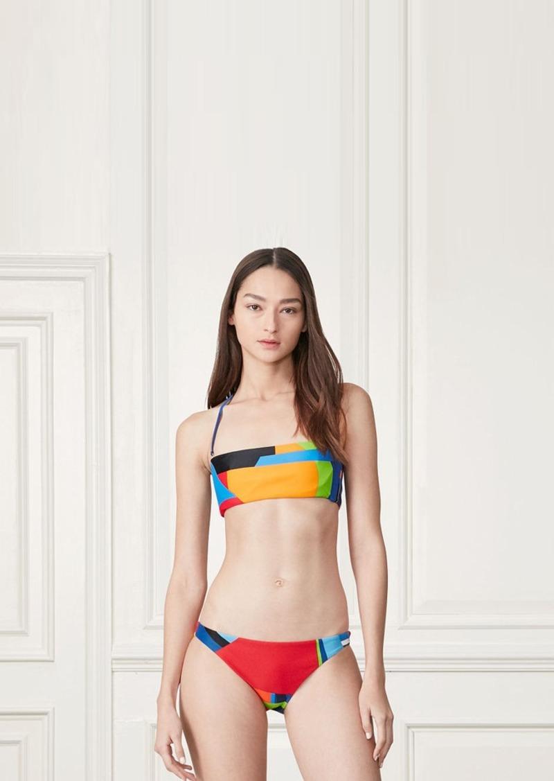 Ralph Lauren Bateau-Print Bandeau Bikini