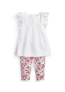 Ralph Lauren Batiste Eyelet Top w/ Floral Leggings, Size 6-24 Months