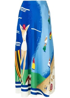 Ralph Lauren beach print skirt