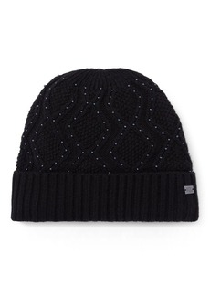 Ralph Lauren Beaded Cable-Knit Hat