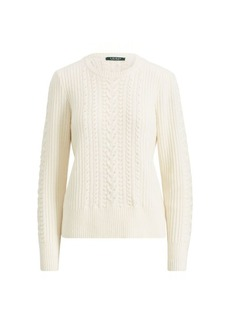 Ralph Lauren Beaded Cable Sweater
