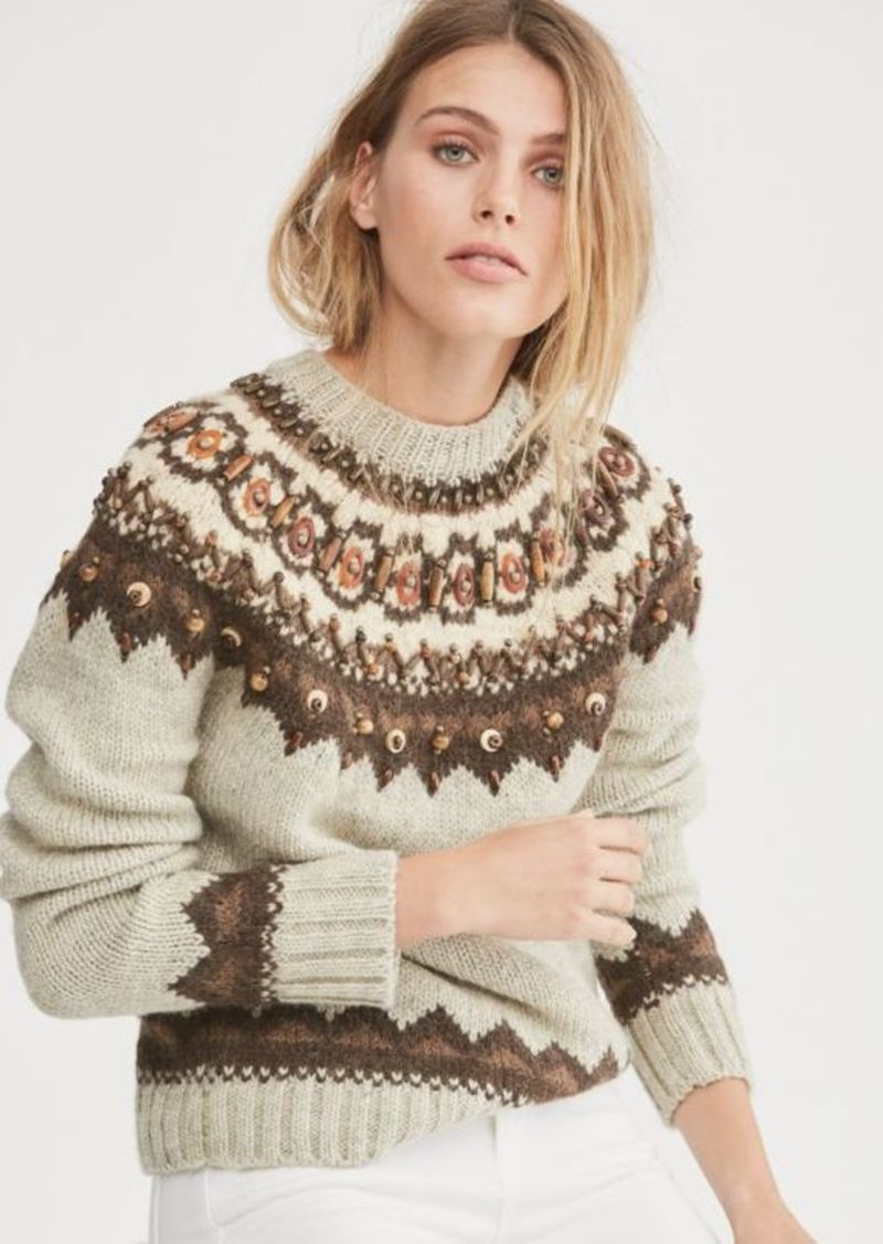 321ff8379 Ralph Lauren Beaded Fair Isle Sweater