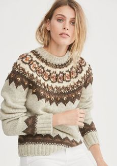 Ralph Lauren Beaded Fair Isle Sweater