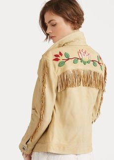 Ralph Lauren Beaded Fringe Deerskin Jacket