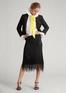 Ralph Lauren Beaded-Fringe Skirt