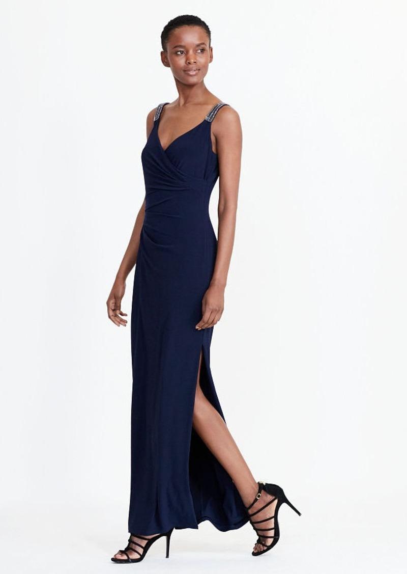 Beaded Jersey Gown Ralph Lauren