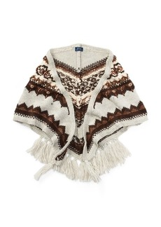 Ralph Lauren Beaded Triangle Wool Scarf