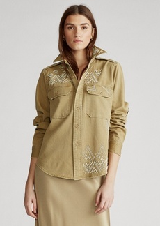 Ralph Lauren Beaded Twill Shirt