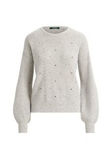 Ralph Lauren Beaded Wool-Blend Sweater