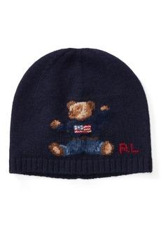 Ralph Lauren Bear Cashmere-Blend Hat