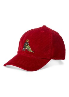 Ralph Lauren Bear Corduroy Baseball Cap
