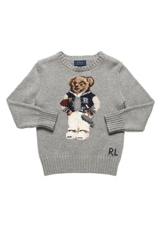Ralph Lauren Bear Cotton Intarsia Knit Sweater