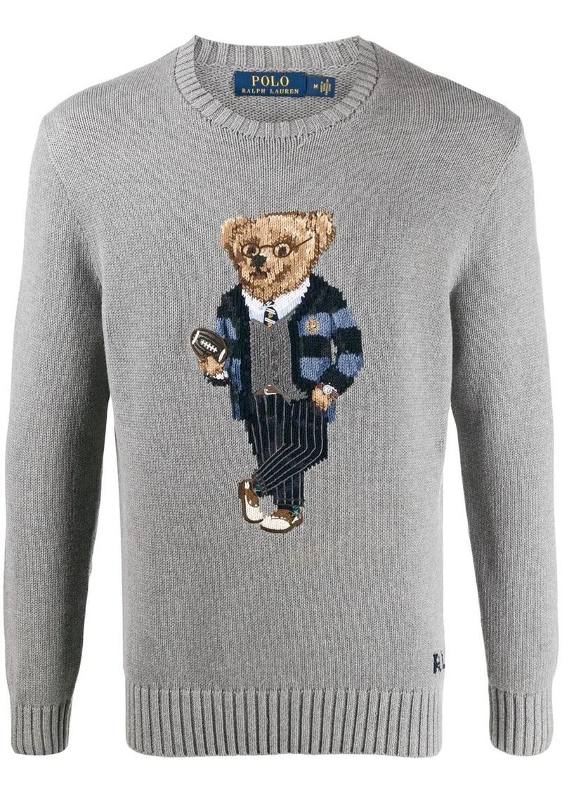 Ralph Lauren bear intarsia jumper