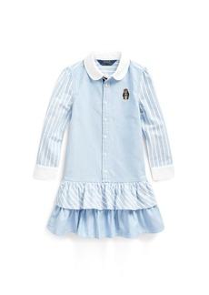Ralph Lauren Bear Striped Cotton Shirtdress