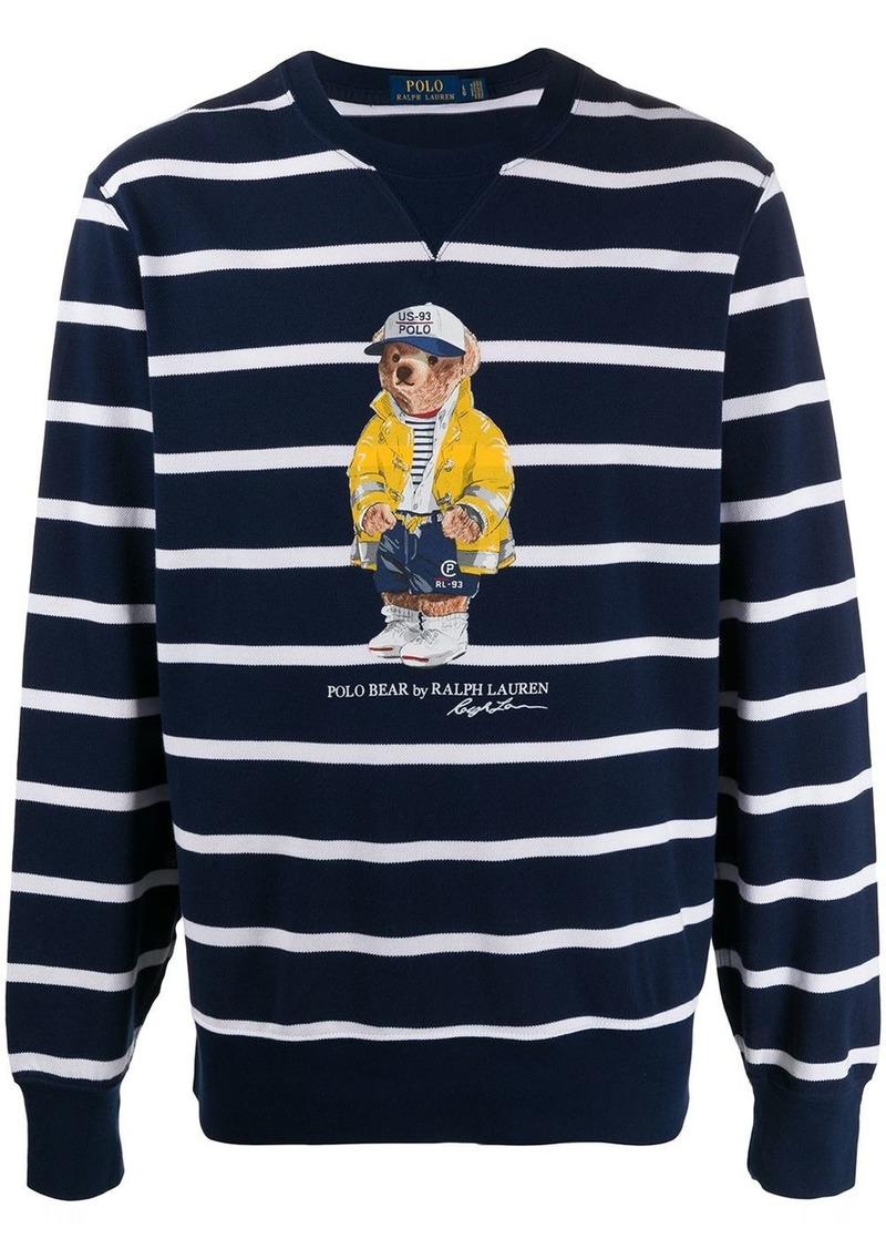 Ralph Lauren Bear Striped Fleece sweatshirt