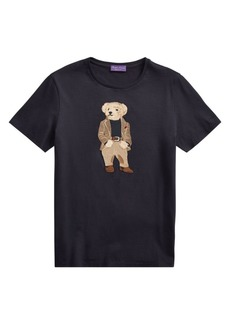 Ralph Lauren Bedford Bear Embroidered Graphic T-Shirt